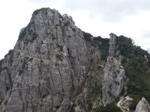 Sentiero di arroccamento del Sengio alto